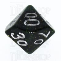 TDSO Glitter Dark Green Percentile Dice
