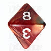 TDSO Duel Red & Teal D8 Dice