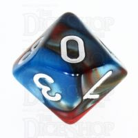 TDSO Duel Red & Teal D10 Dice