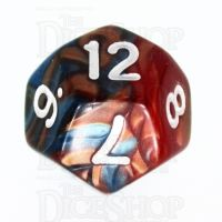 TDSO Duel Red & Teal D12 Dice