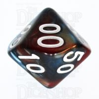 TDSO Duel Red & Teal Percentile Dice