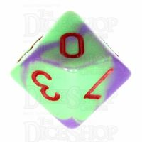 TDSO Duel Green & Purple with Red D10 Dice - Discontinued