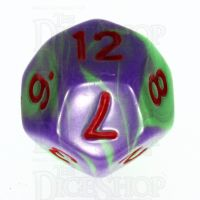 TDSO Duel Green & Purple with Red D12 Dice - Discontinued