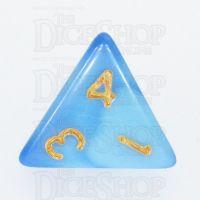 TDSO Duel Blue & Light Blue D4 Dice - Discontinued