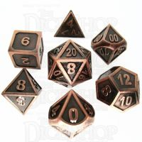 TDSO Metal Fire Forge Copper 7 Dice Polyset