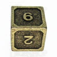 TDSO Metal Fire Forge Ancient Brass D6 Dice