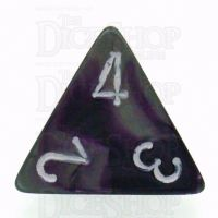 Chessex Gemini Purple & Steel D4 Dice