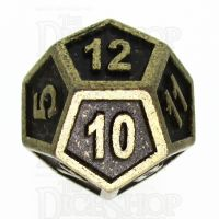 TDSO Metal Fire Forge Ancient Brass D12 Dice