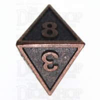 TDSO Metal Fire Forge Ancient Copper D8 Dice
