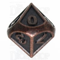 TDSO Metal Fire Forge Ancient Copper D10 Dice