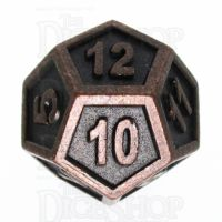 TDSO Metal Fire Forge Ancient Copper D12 Dice