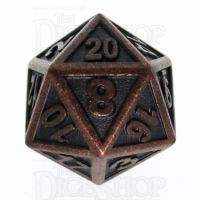 TDSO Metal Fire Forge Ancient Copper D20 Dice