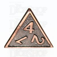 TDSO Metal Fire Forge Copper D4 Dice