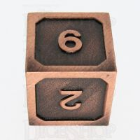 TDSO Metal Fire Forge Copper D6 Dice