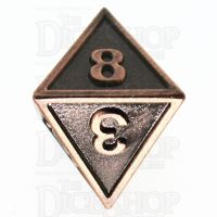 TDSO Metal Fire Forge Copper D8 Dice
