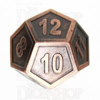 TDSO Metal Fire Forge Copper D12 Dice