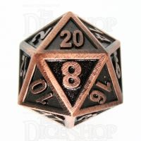 TDSO Metal Fire Forge Copper D20 Dice
