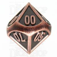 TDSO Metal Fire Forge Copper Percentile Dice