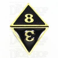 TDSO Metal Fire Forge Gold & Black Enamel D8 Dice