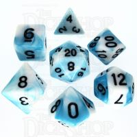 TDSO Duel Teal & White 7 Dice Polyset