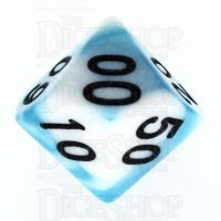 TDSO Duel Teal & White Percentile Dice