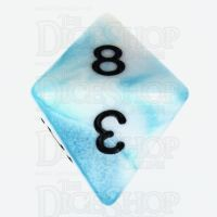 TDSO Duel Teal & White D8 Dice