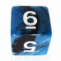 TDSO Duel Black & Blue D6 Dice