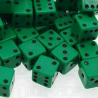 D&G Opaque Green MINI 7mm 20 x D6 Dice Set