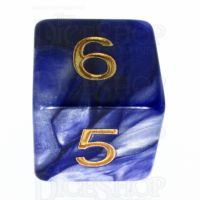 TDSO Duel Purple & Pearl White D6 Dice