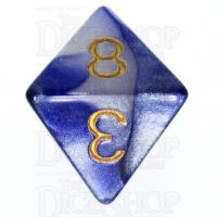 TDSO Duel Purple & Pearl White D8 Dice