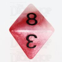 TDSO Duel Red & Pearl White with Black D8 Dice - Discontinued