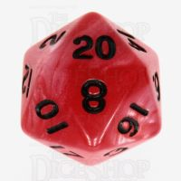 TDSO Duel Red & Pearl White with Black D20 Dice - Discontinued