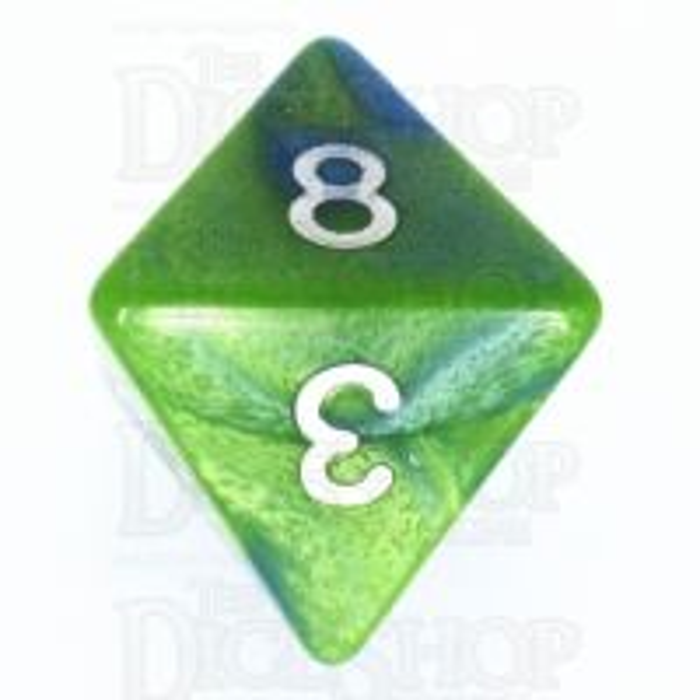 TDSO Duel Turquoise Blue & Pistachio Green D8 Dice