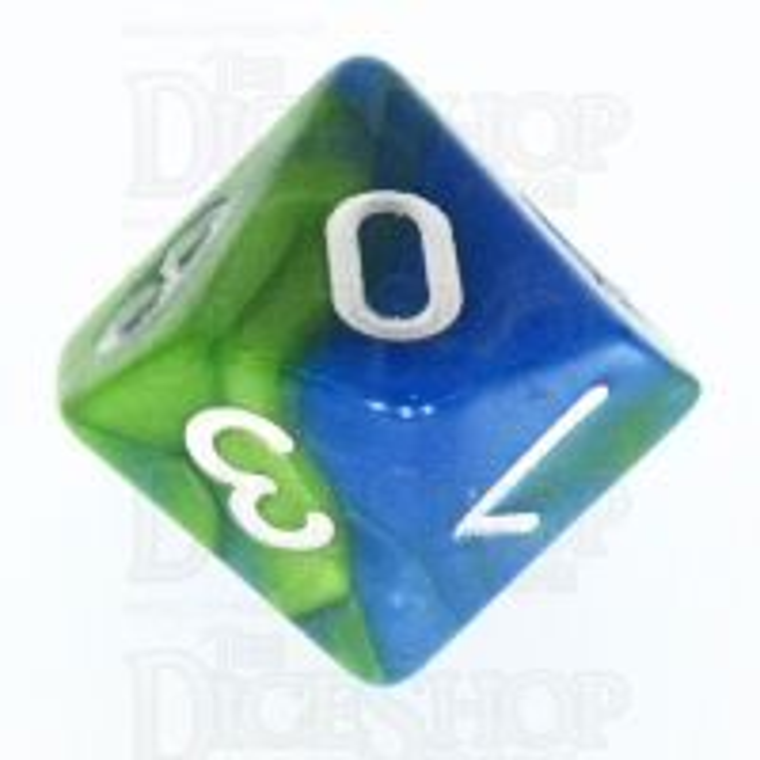 TDSO Duel Turquoise Blue & Pistachio Green D10 Dice