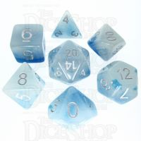 TDSO Duel Icy Rocks Glow in the Dark 7 Dice Polyset
