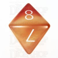 TDSO Carnelian with Engraved Numbers 16mm Precious Gem D8 Dice