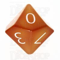 TDSO Carnelian with Engraved Numbers 16mm Precious Gem D10 Dice