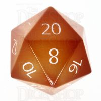 TDSO Carnelian with Engraved Numbers 16mm Precious Gem D20 Dice