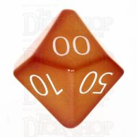 TDSO Carnelian with Engraved Numbers 16mm Precious Gem Percentile Dice
