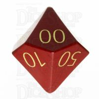 TDSO Jasper Red with Engraved Numbers 16mm Precious Gem Percentile Dice