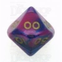 D&G Toxic Acid Purple & Blue Percentile Dice