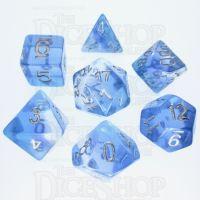 TDSO Layer Transparent Blue Sky 7 Dice Polyset