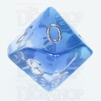 TDSO Layer Transparent Blue Sky D10 Dice