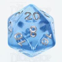 TDSO Layer Transparent Blue Sky D20 Dice