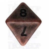 TDSO Opaque Antique Copper D8 Dice