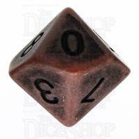 TDSO Opaque Antique Copper D10 Dice
