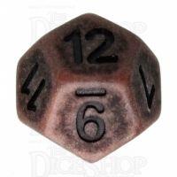 TDSO Opaque Antique Copper D12 Dice