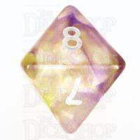 TDSO Pearl Swirl Purple & Yellow D8 Dice
