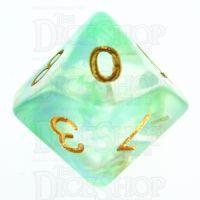 TDSO Pearl Swirl Green & Blue D10 Dice