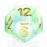 TDSO Pearl Swirl Green & Blue D12 Dice